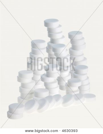 White tablets isolated
