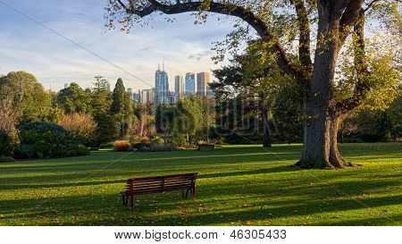 A Bench Seat In Melbourne Waiting For You