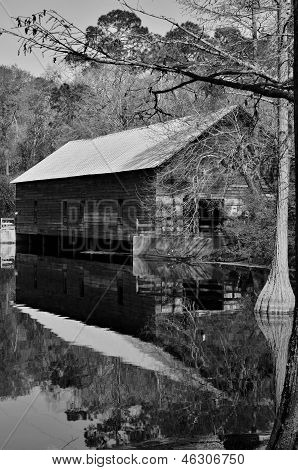 Covered bridge and grist mill