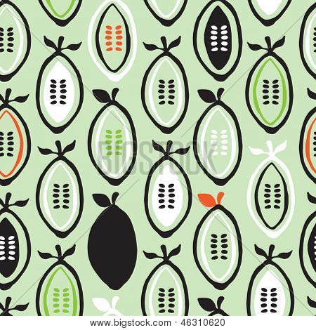 Seamless colorful retro garden seeds hand drawn illustration background pattern in vector