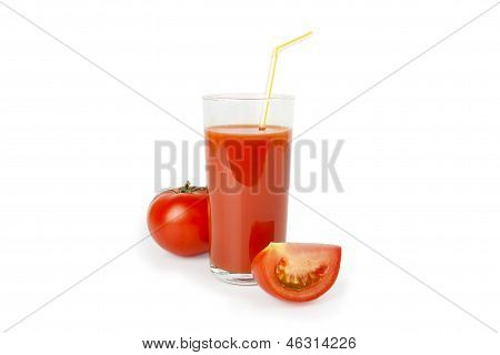 Tomato Vegetable Juice In Glass