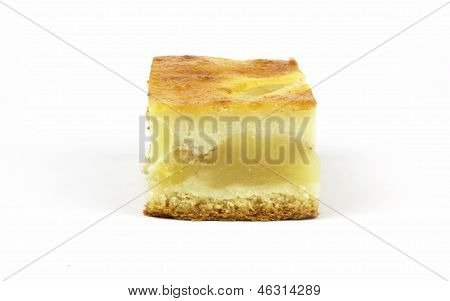 Close up of apple pie  on the white background