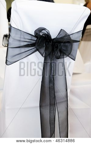 Black Chair Cover At Wedding