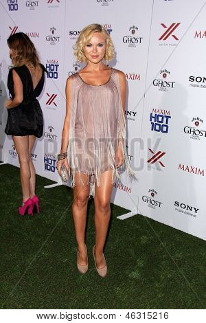 LOS ANGELES - MAY 15:  Anya Monzikova arrives at the 2013 Maxim Hot 100 Party at the Vanguard on May 15, 2013 in Los Angeles, CA