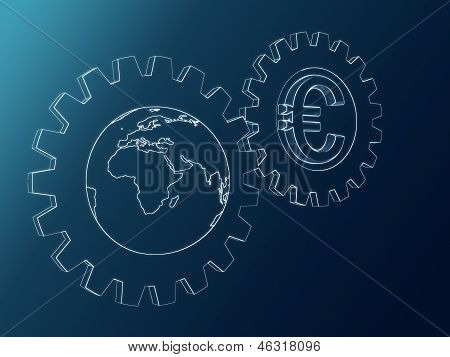 Euro And Globe