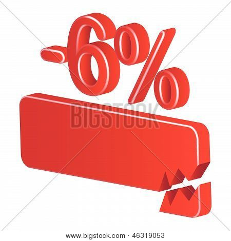 Minus Six Per Cent (red)