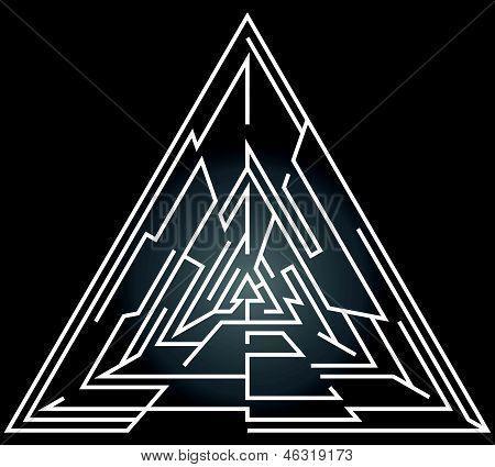 Triangular Labyrinth