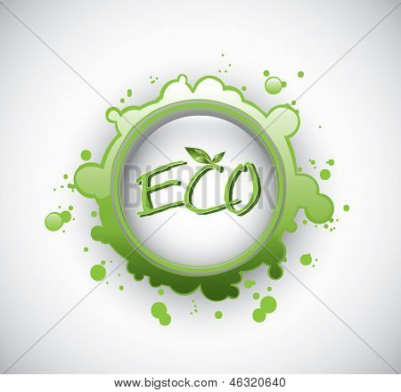 Green eco stamp