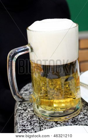 Glass Transparent With Beer