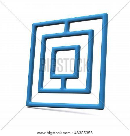 Maze icon, 3d