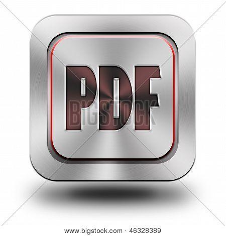 Pdf Aluminum Glossy Icon