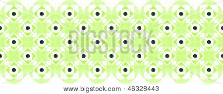 Abstract damask swirls horizontal seamless pattern border