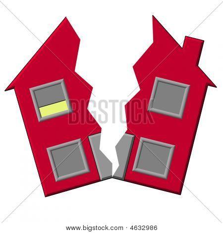 House Split In Half