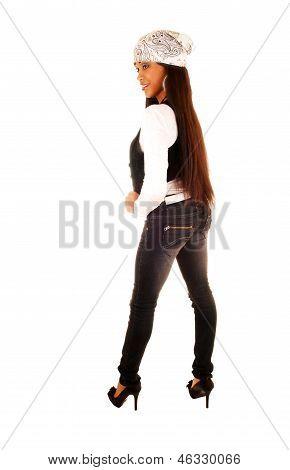 Slim African Girl Standing.