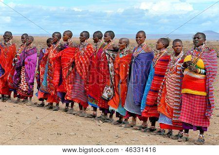 Afrikaner, die vom Massai-Stamm