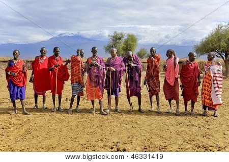 African people from Masai tribe