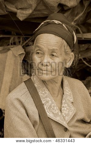 old buddhist woman