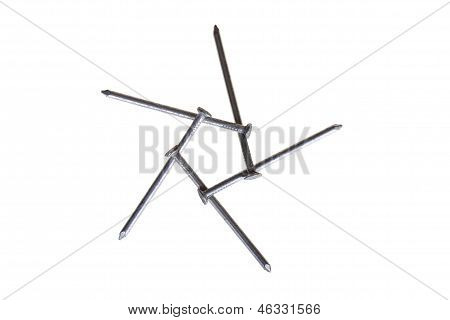 Five nails, top view