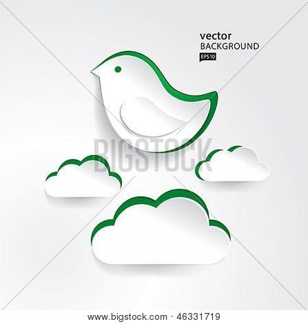 vector paper bird EPS10