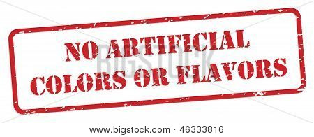 No Artificial Colors And Flavors Rubber Stamp