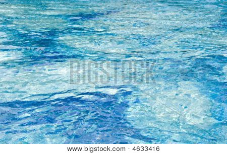 Water Ripple In A Wiming Pool (blue Gamma)