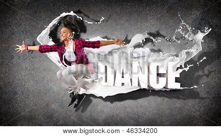 Dançarina de estilo moderno