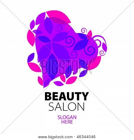 creative design Heart Of Red Leaves To The Beauty Salon