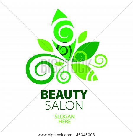 Composition Of Green Leaf creative design For Beauty Salon