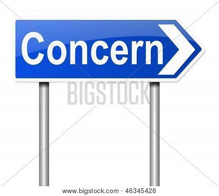 Concern Concept.