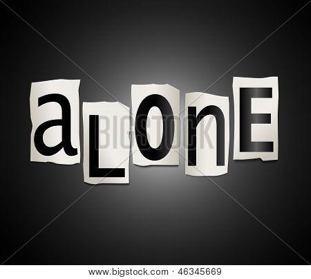 Alone Concept.
