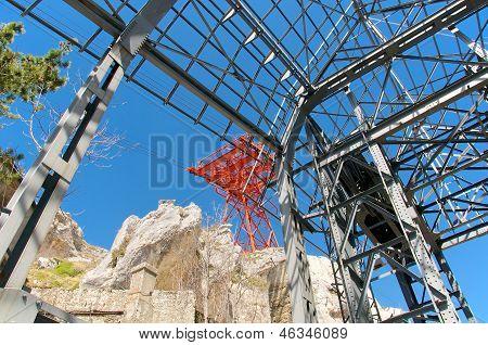 Cableway Pylon View Campo Imperatore, Abruzzo, Italy
