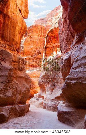 Al-Siq, Petra, Jordania