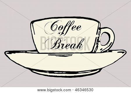 Coffee break coloured