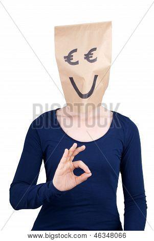 Euro Head Showing Okey Sign
