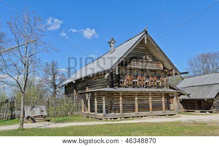 Russian Izba (log Hut)
