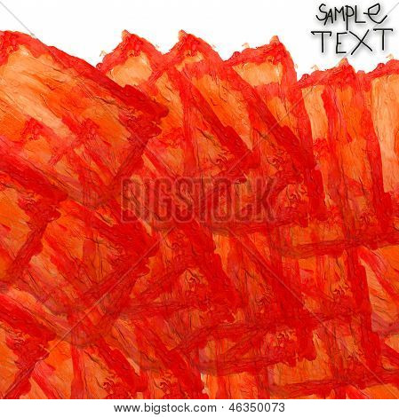 background art hand orange watercolour brush texture isolated