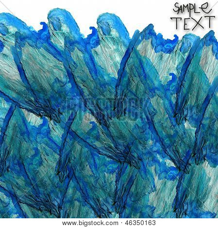 background art hand watercolour blue brush texture isolated