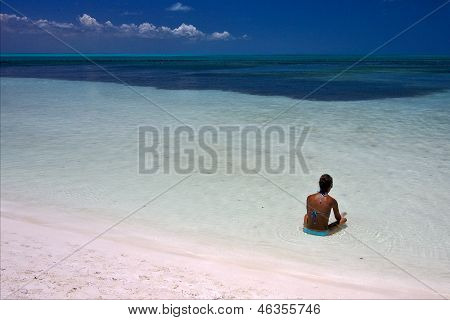 Relax And Coastline In The Caraibbien  Lagoon