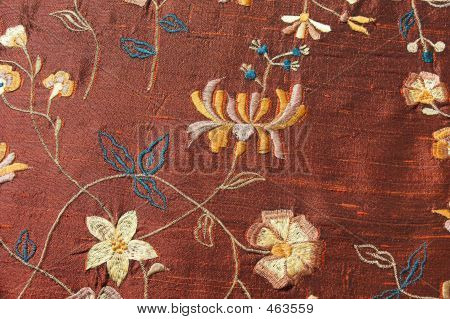 Embrodiered Silk Material