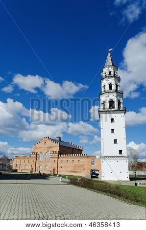 Inclined Tower In The City Of Nevyansk . Russia