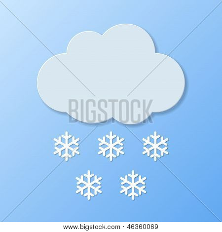 Weather Icons. Snowy Weather. Vector Illustration