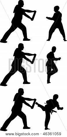 Taekwondo Silhouette Vector