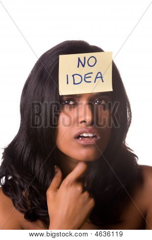 Nenhuma idéia branco