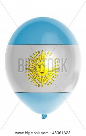 Balloon Colored In  National Flag Of Argentina