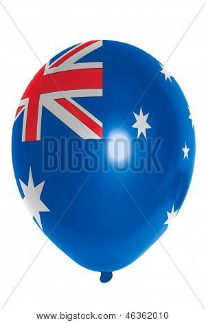 Balloon Colored In  National Flag Of Australia