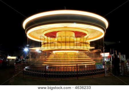 Spinning Merry Go Round Time Exposure