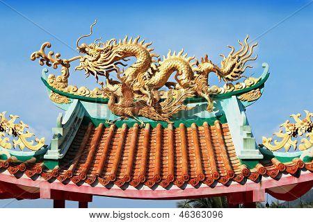 Dragon On Temple