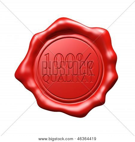 Red Wax Seal - 100% Qualit�t - Isolated