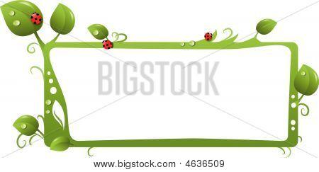 Green Floral Frame.eps