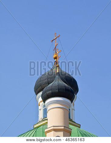 Church domes.